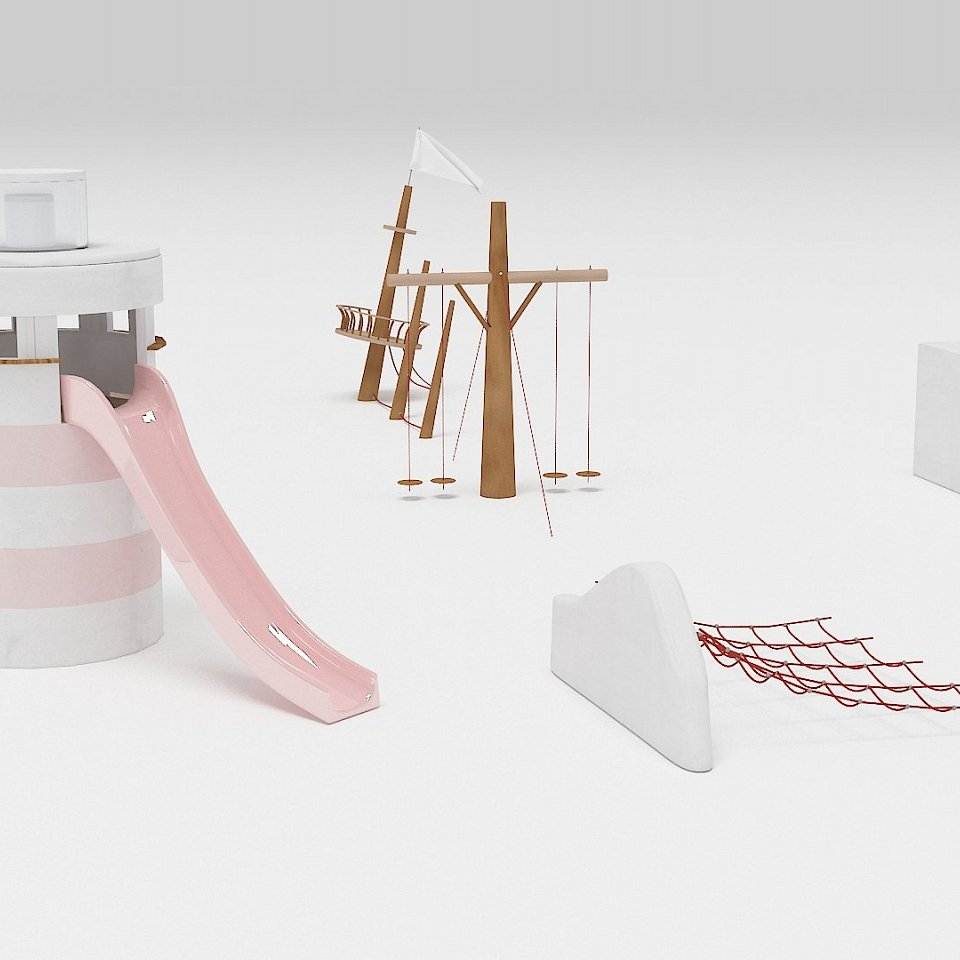 child playground concept where main material should be concrete