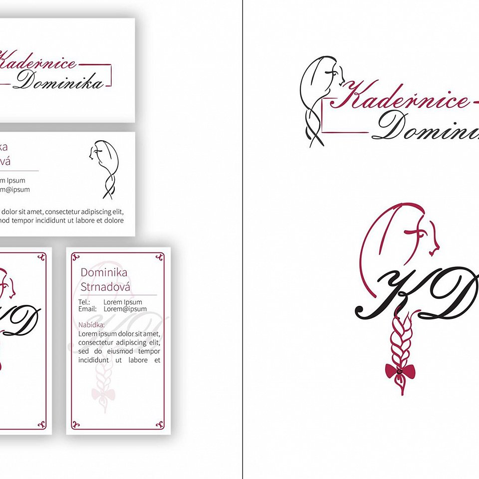 hairdresser logo and business card