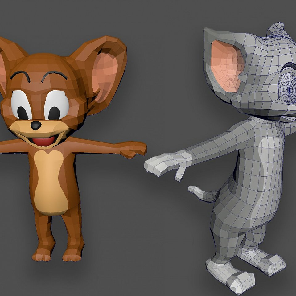 Low poly Tom&Jerry